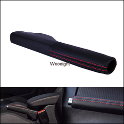 1KD711461A 1K0711461 1PC Genuine Leather Car Hand Parking Brake Handle Grips Cover Fit For VW Golf Sagitar 2006-2007 2009-11