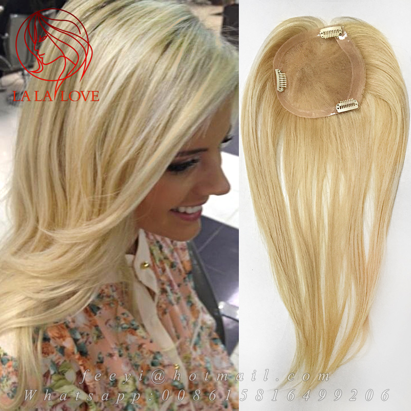 Woman S Toupee Human Real Hair Piece 613 Ligth Blond Hair