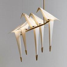 купить Modern art deco crane bird design pendant light creative lron LED hanging light living room dinner room cafe room bar lamp e27 дешево