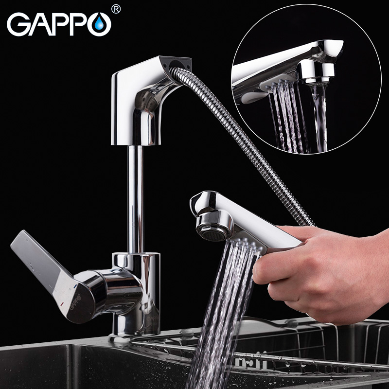 GAPPO pull out kitchen faucet Brass water mixer kitchen tap kitchen mixer tap water tap brass Chrome torneira cozinha gappo waterfilter taps kitchen faucet mixer taps water faucet kitchen sink mixer bronze water tap sink torneira cozinha ga1052 8