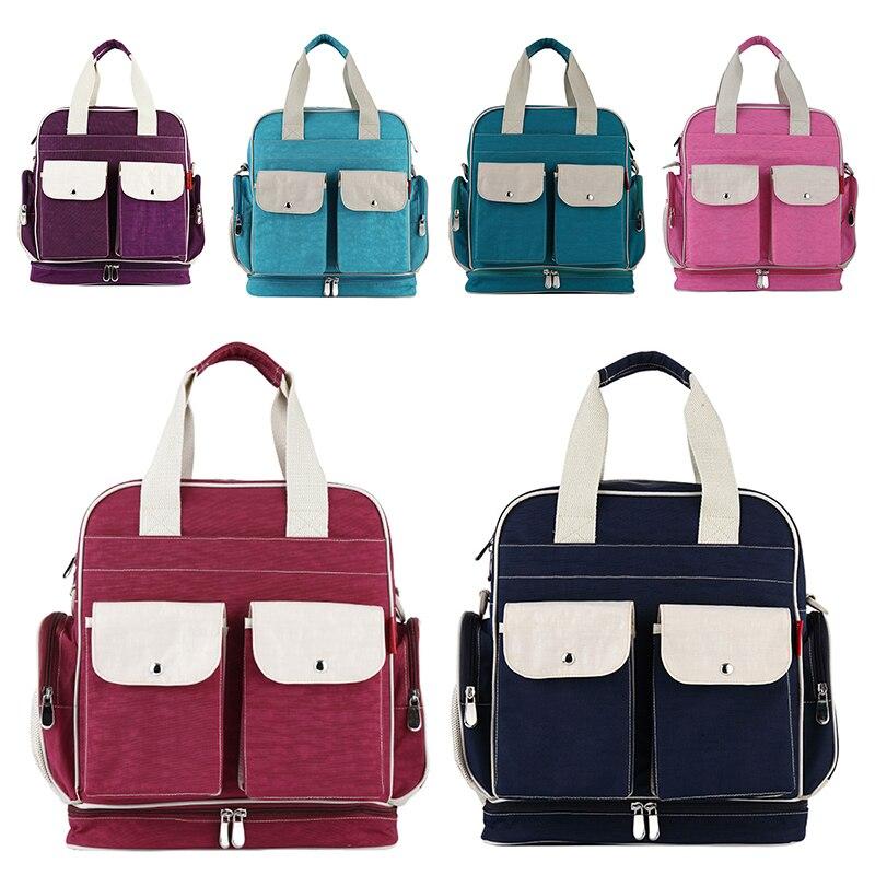 New Mummy Baby Diaper Bag Shoulder Handbag Maternity Stroller Bag Multi-functional 5 Color Messenger Bag Waterproof 1 Pc