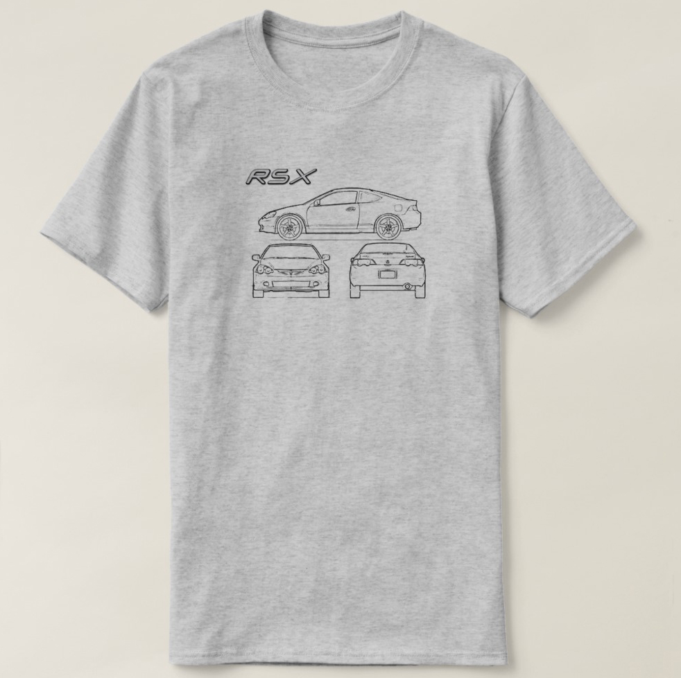 Printed Men T Shirt Cotton Short Sleeve Acura Rsx Tuner