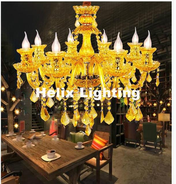 US $177.22 8% OFF|Freies Verschiffen Bunte Design Kristall Beleuchtung  Kronleuchter LED Candelabro für Café Bar Kind Moderne Led Kristall ...