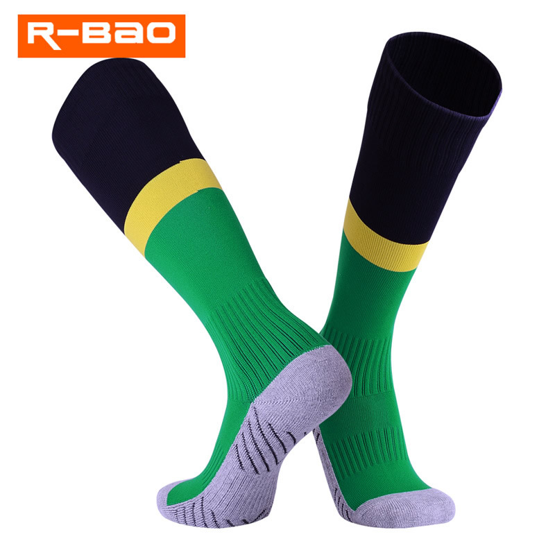 Breathable Perspiration Kids Football Long Socks Teenagers Juvenile Ankel Protection Soccer Socks High Elastic Stockings