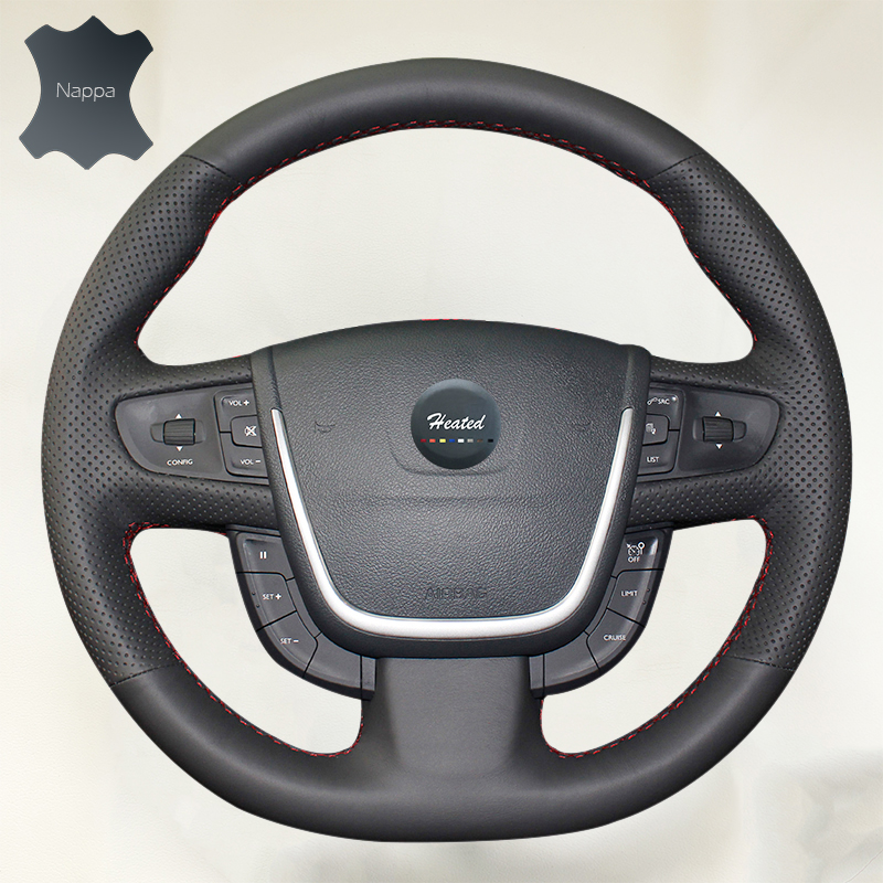 DIY Steering Wheel Cover for Peugeot 508 Extremely Soft Leather braid on the steering wheel of Car Interior Accessories