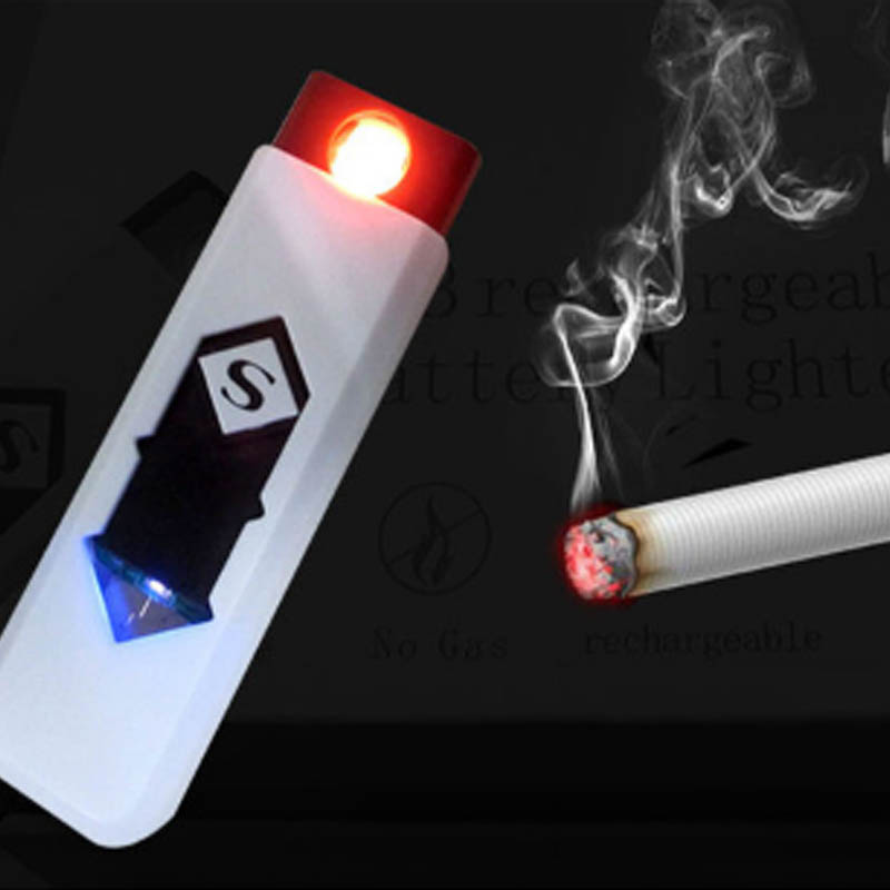 1 PC Windproof Nice Gift Smokeless Flameless USB Charging Lighter Electronic Cigarette Lighters Smoking Accessories 1