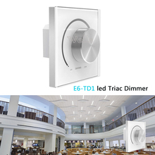 LTECH Wall Mount Knob E6-TD1  led Triac Dimmer AC 220-240V High Voltage LED Light Incandescent Lamp Halogen Lamp mtspace high quality 220 240v ac 36w wide voltage t8 electronic ballast fluorescent lamp ballasts