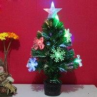 人工クリスマスツリーled多色ライト45センチミニ休日の装飾家の装飾decoracion arbolナヴィダード