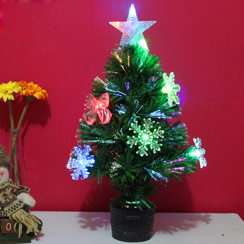 Artificial Christmas Tree LED Multicolor Lights 45cm Mini Holiday ...