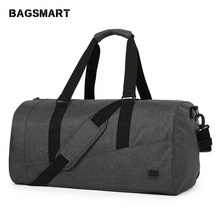 2c359168be98 BAGSMART Men Travel Bag Large Capacity Carry on Luggage Bag Nylon Travel  Duffle Shoe Pocket Overnight Weekend Bags Travel Tote