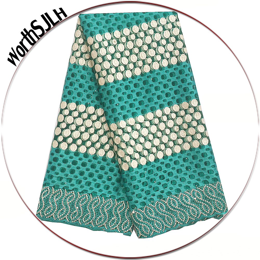 New Arrivals High Quality African Fabric Lace Nigeria Teal Green Lace Fabric Royal Blue Swiss French Net Lace Fabric 2019 in Lace from Home Garden