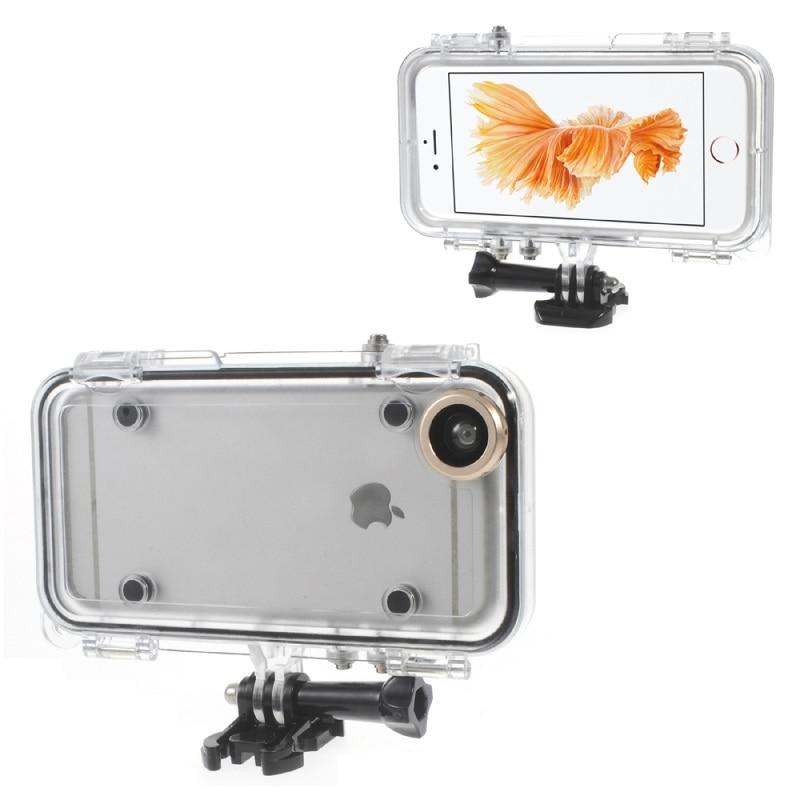bilder für Für iPhone 5 5 s SE 6 6 s 6 6 s Plus Fällen Extreme sport Wasserdicht Telefon Fall mit Weitwinkelobjektiv für iPhone6 Plus Shell