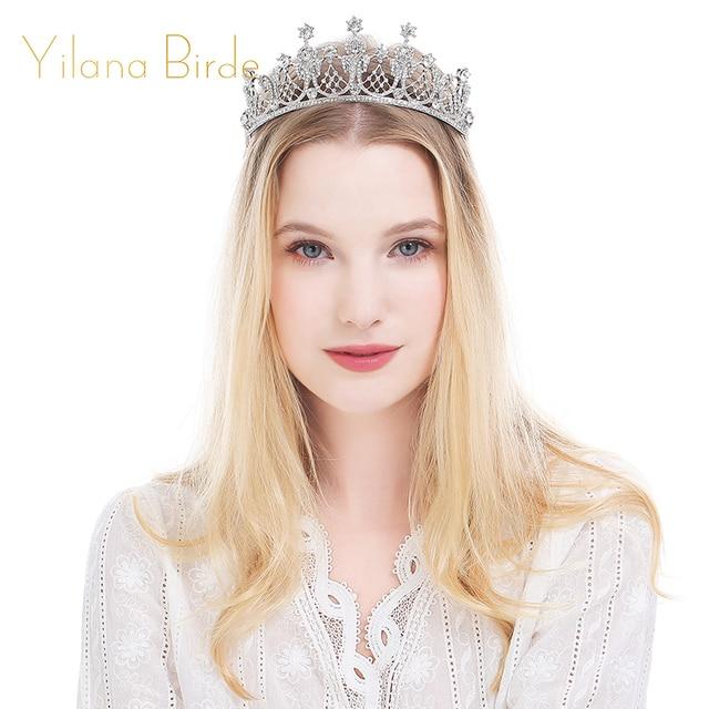 Hair Jewellery Rhinestone Woman Tiaras And Crowns Bridal Wedding Crown Tiara Accessories Noiva