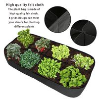 8 Grids Seeding Tray Plastic Nursery Tray Maceteros Bonsai Flower Pots Green Succulent Plants Pot Seed Grow Box