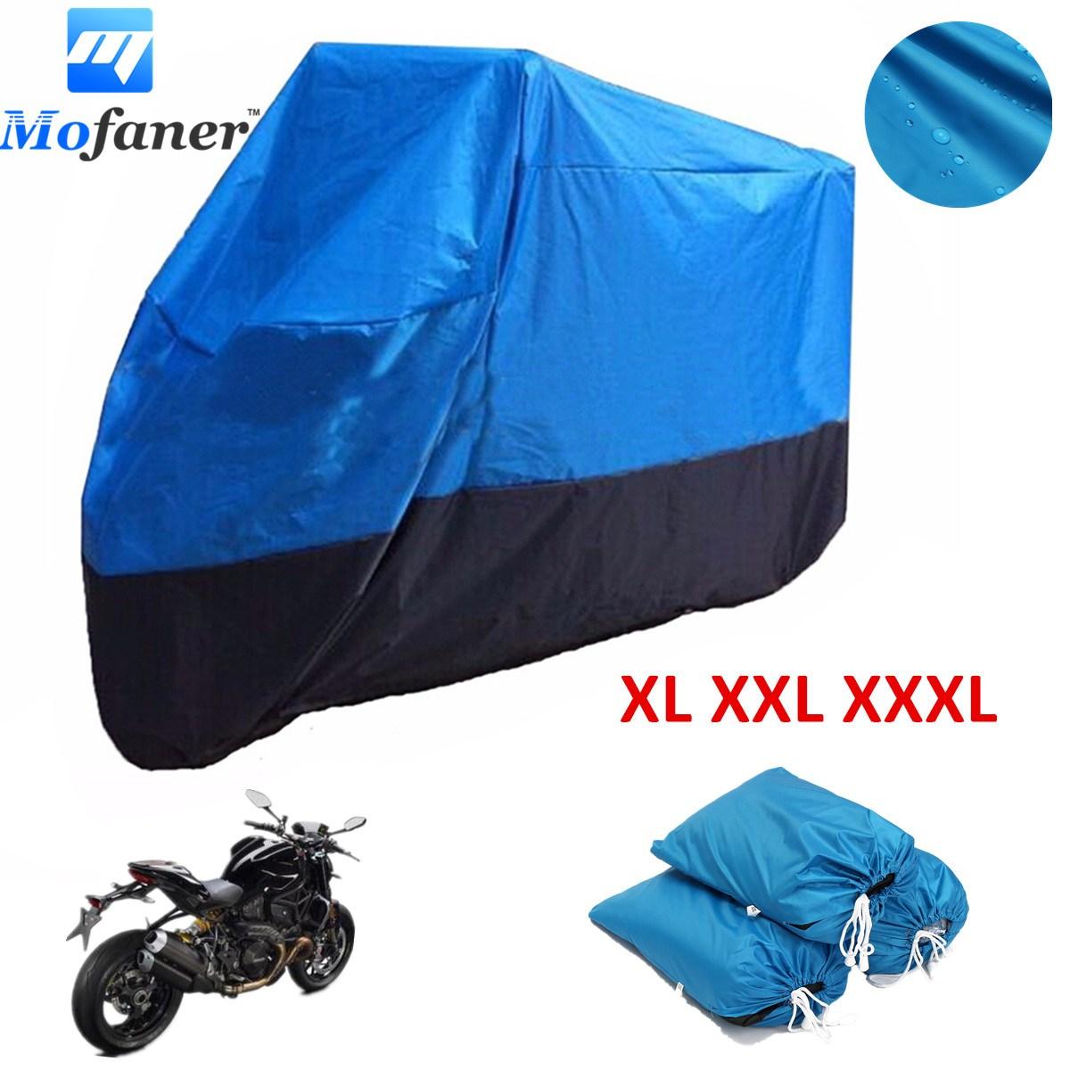 Mofaner 180 T Universal Motorrad Abdeckung Wasserdicht Schwarz und Blau Quad ATV Fahrzeug Scooter Motorrad Abdeckungen