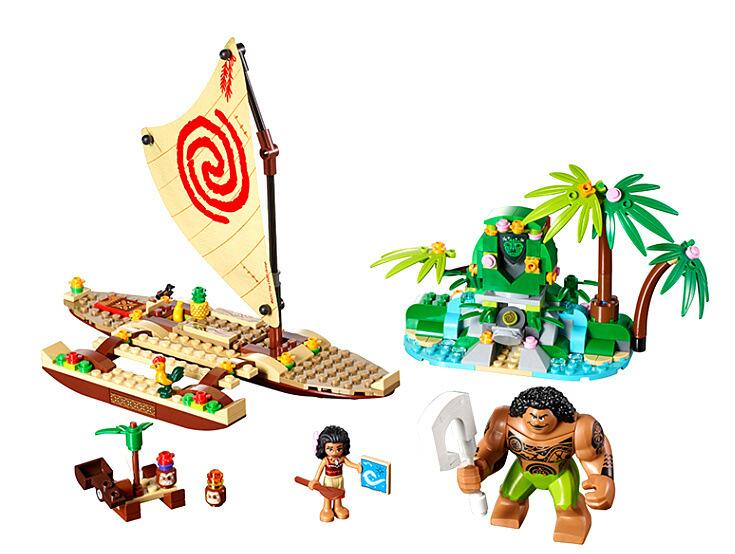 41150 Lepin Princess Series Moana's Ocean Voyage Maui Building Bricks Blocks Compatible Boy Kids Toys For Children lepin 25004 princess vaiana moana ocean voyage legoingly sets 41149 building nano block diy bricks toys for kids girls