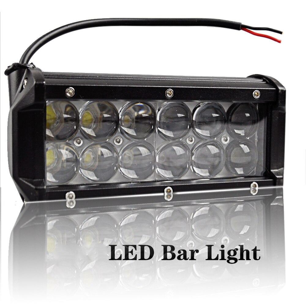 LED Bar Light 36W DC12 80V 6500K Cool White Waterproof IP67 Straight Super Brightness for Car Motorcycle