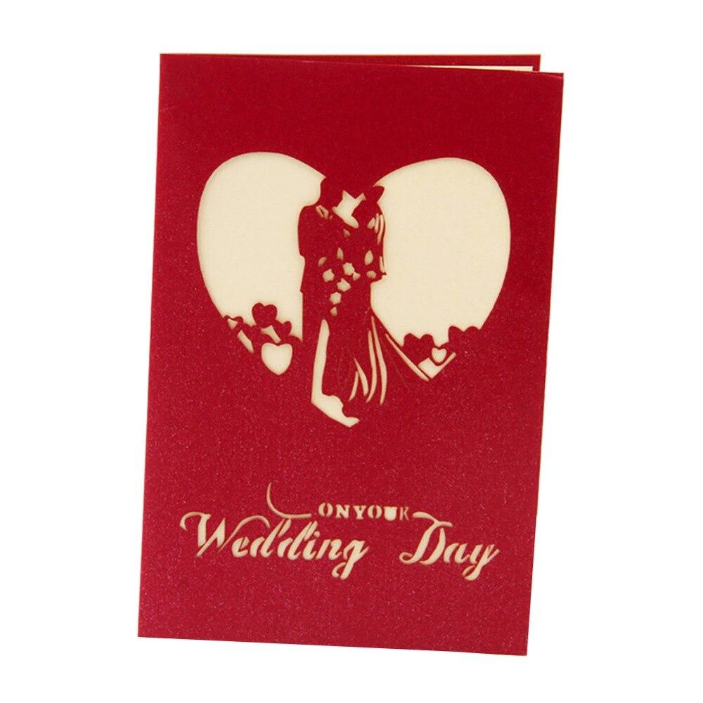 2018 3D Pops Wedding Invitation Card Laser Paper Custom LOVE ...