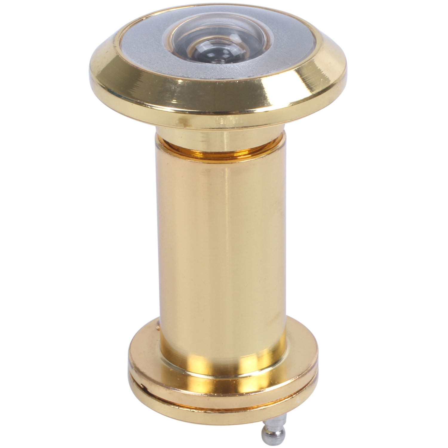 Adjustable 200 Degree Wide Angle Door Viewer Brass Scope Peephole Home Security