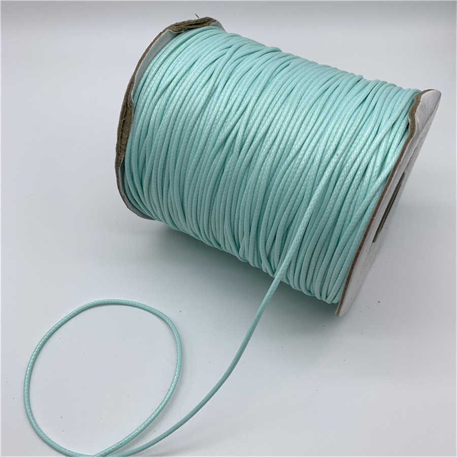 0.5mm 0.8mm 1mm 1.5mm 2mm Cyan Waxed Cotton Cord Waxed Thread Cord String Strap Necklace Rope For Jewelry Making