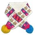 Мода милые дети шерстяные + бархат вязаный шарф зима глушитель с мультфильм кролик рисунок