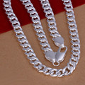 Top Quality Silver Plated & Stamped 925 10mm thick chains necklace for men fine jewerly 925 silver necklaces wholesale N133