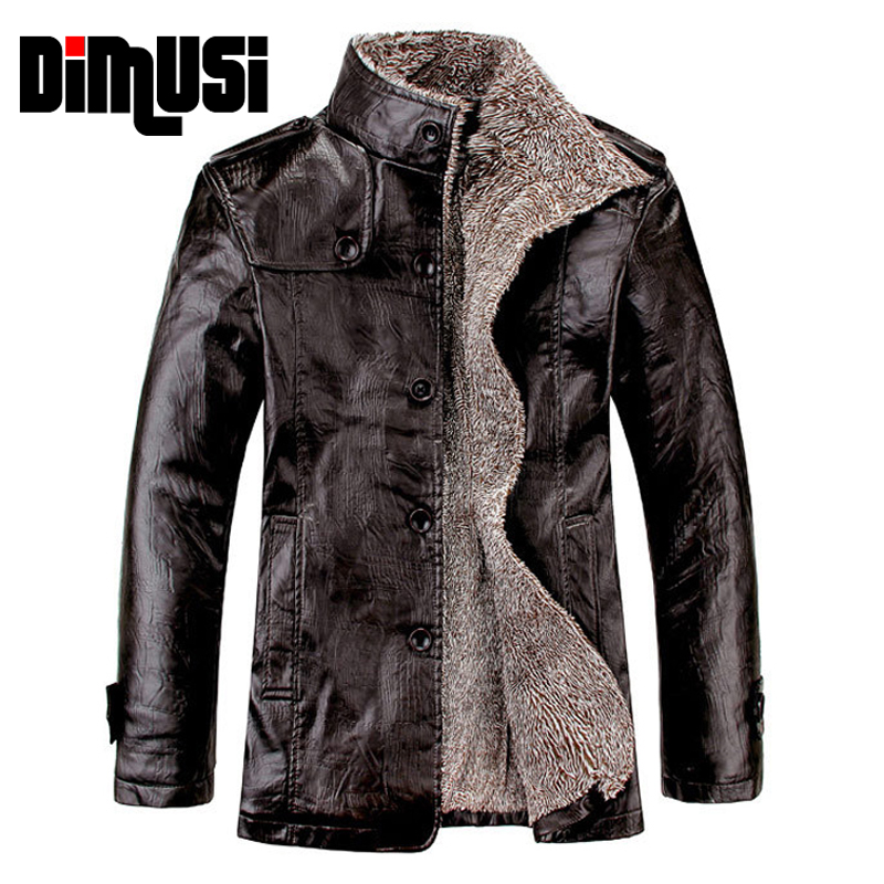 Womens Fur Collar Fleece Warm Pu Leather Jackets Slim Fit Casual Coats Outwear