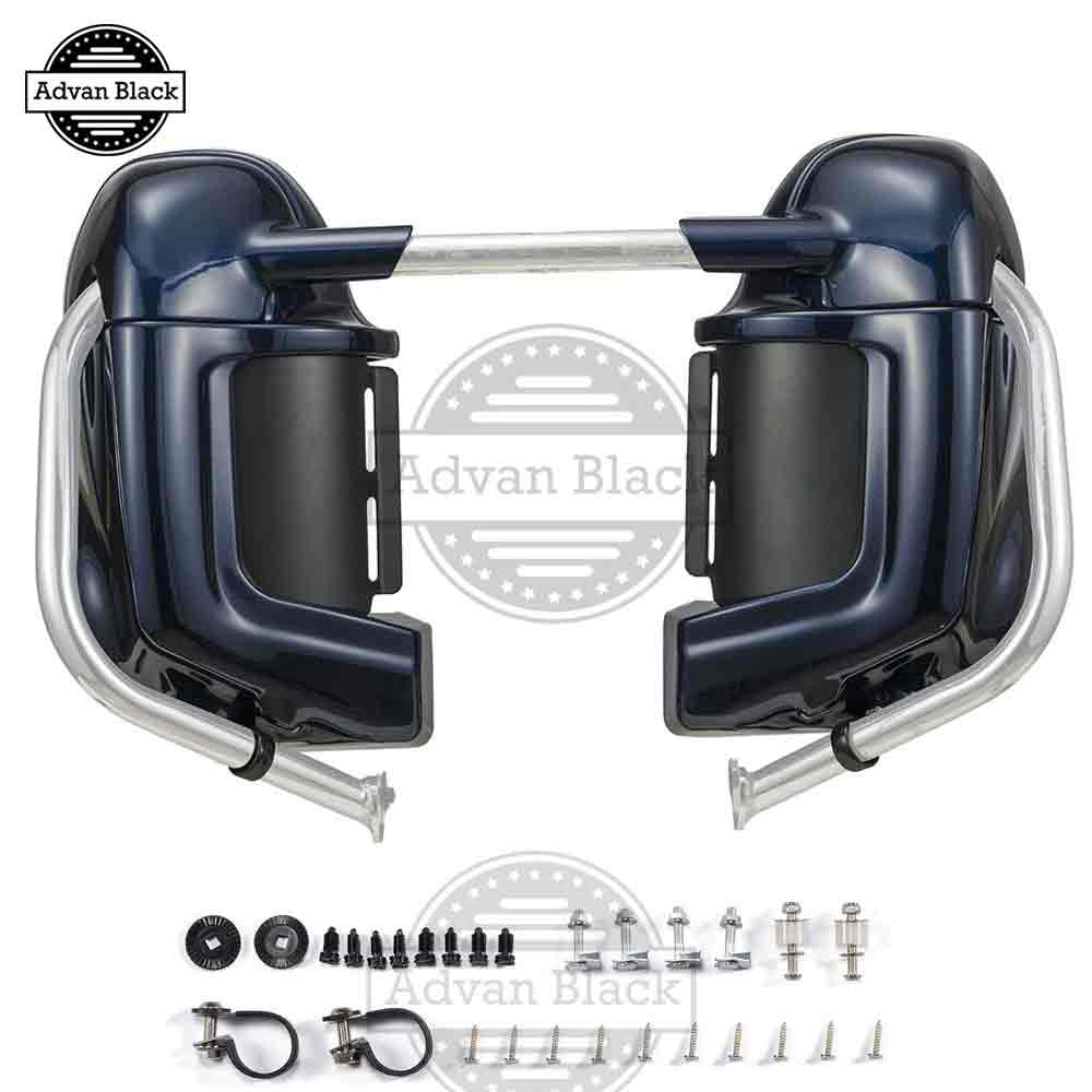 Advanblack Big Blue Pearl Lower Vented Fairings Fit For