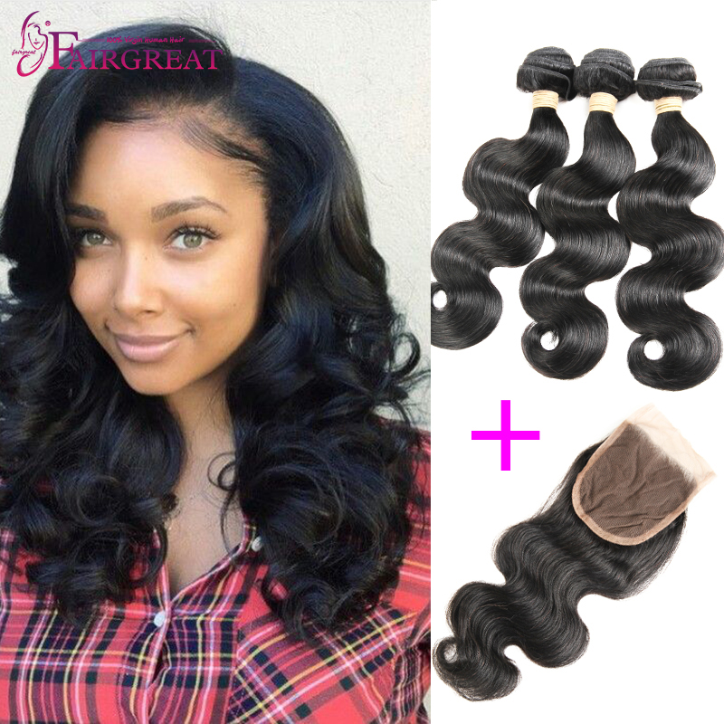 Peruvian Body Wave With Closure 7A Peruvian Human Hair 3 Bundles With Closure Cheap Peruvian Virgin Hair Body Wave With Closure