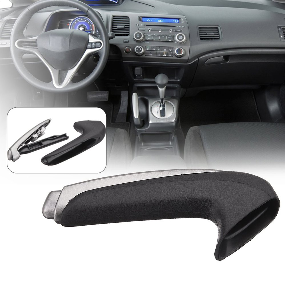 Emergency Car Interior Parking Hand Brake Handle Lever Grip Cover Car Styling For Honda For Civic Eighth Version 2006-2011