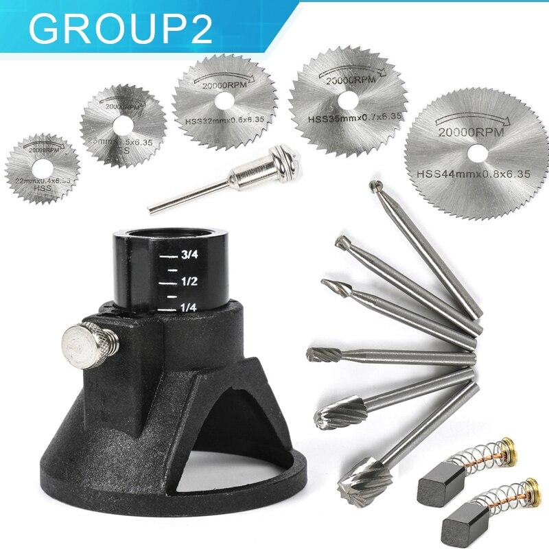 Mini Perceuse Perceuse Électrique 110 V 220 V À Vitesse Variable Outil Rotatif circulaire lame de scie de coupe disque électrique graveur pour Dremel 3000