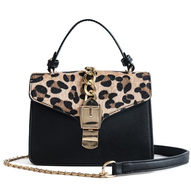 Leopard Chains Handbags Women Bags Fluff Brand Crossbody Shoulder Bags  Ladies 2019 Fashion PU Solid Color 0a1662a6d6fe2