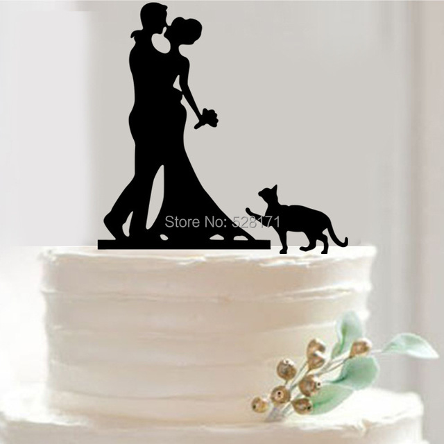 Free Shipping Bride and Groom Cake Topper Acrylic Silhouette Wedding ...