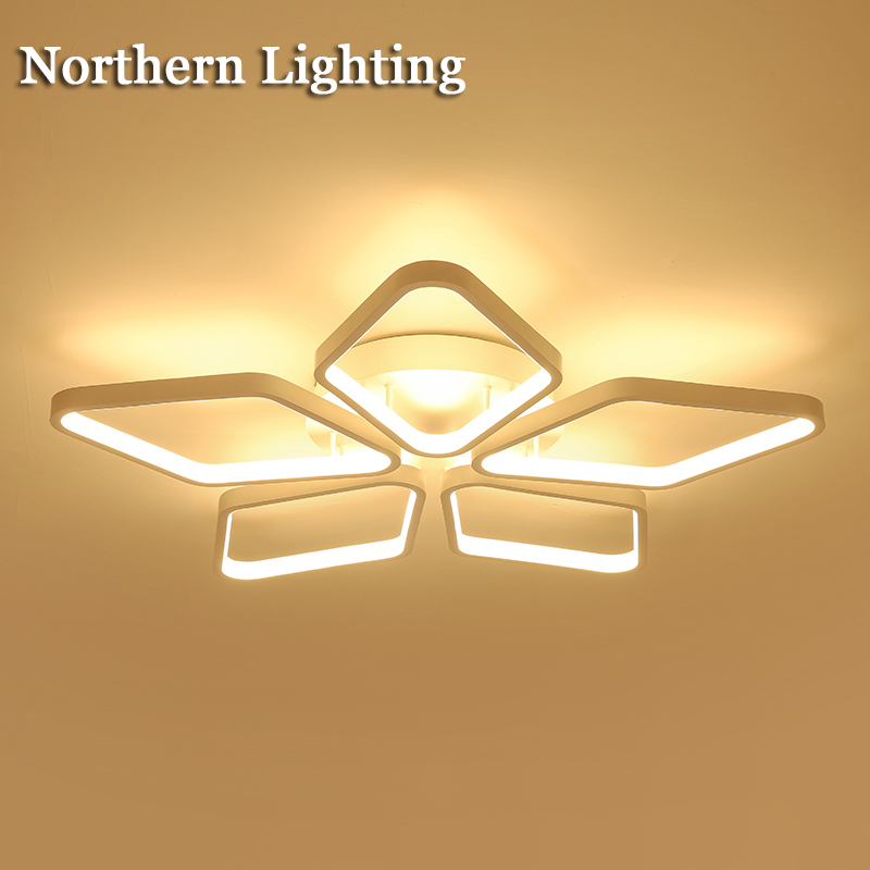 Remote control LED Ceiling Chandeliers Lights white black body creative LED chandelier lighting for bedroom living room lustres yimia creative 4 colors remote control led night lights hourglass night light wall lamp chandelier lights children baby s gifts