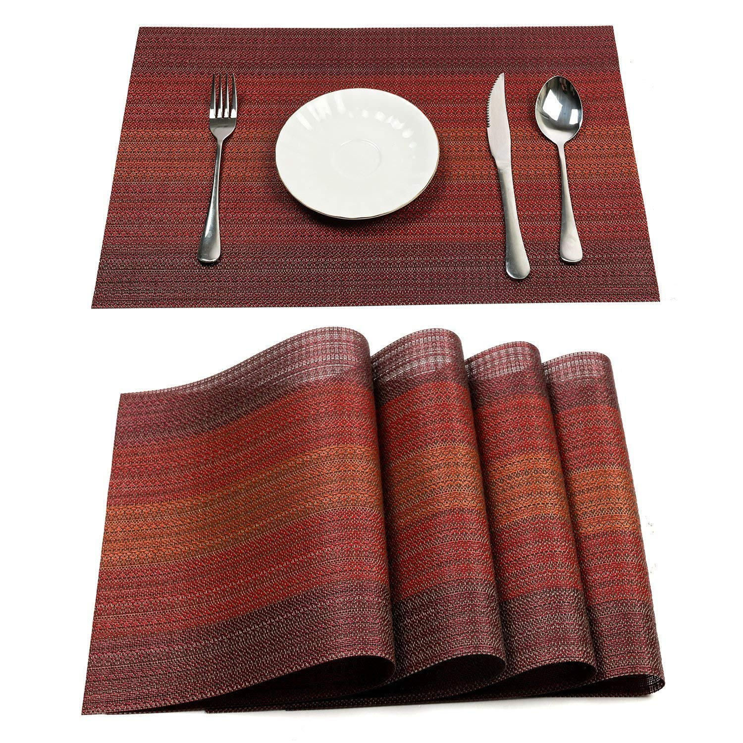 Hot Deal Fa952 Metable Placemat 6 Pcs For Dining Table Washable