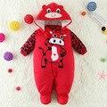 Nova venda quente jaqueta de algodão grosso roupas collant Romper outono e inverno roupas de bebê 0 - 1 anos de idade