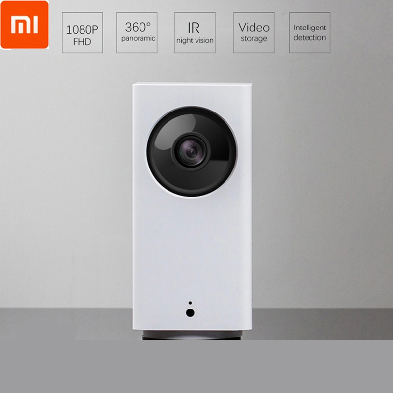 Xiaomi mijia câmera ip inteligente 110 graus 1080p controle remoto dafang wifi ip cam ir visão noturna de 360 graus câmera panorâmica