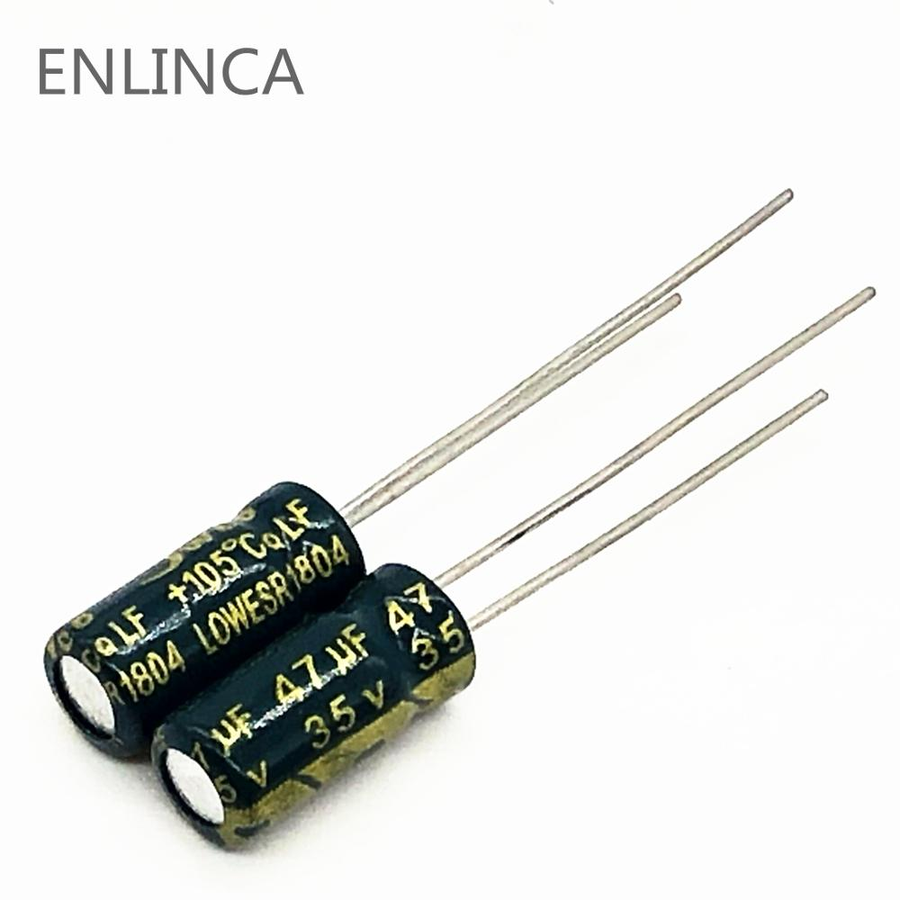 20pcs/lot S104 Low ESR/Impedance High Frequency 35v 47UF Aluminum Electrolytic Capacitor Size 5*11 47UF35V 20%