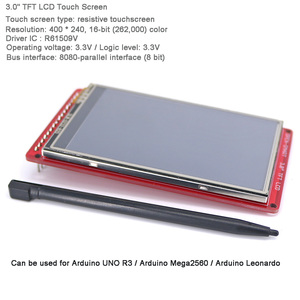 """Image 2 - 3.0"""" TFT LCD Touch Screen Resistive 400*240 Display Panel Breakout Board Module R61509V for Arduino UNO R3 OPEN SMART FZ3286"""
