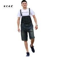 Além dos homens Tamanho S M L XL XXL 3XL 4XL Shorts Jeans Casuais Macacão Multi-bolso Macacões Soltos Calças Jardineiras