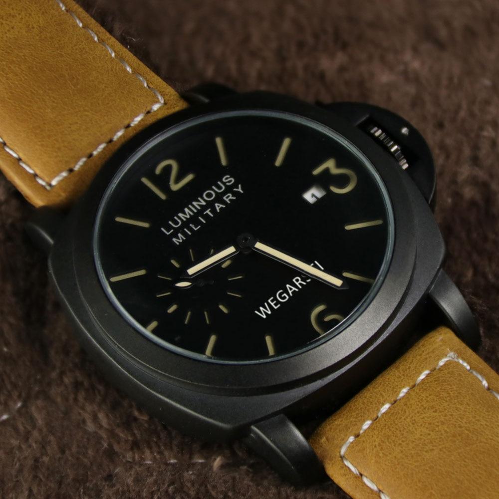 WEGARSTI Męskie Zegarki Top Marka Luksusowy Skórzany Pasek Zegarki - Męskie zegarki - Zdjęcie 3