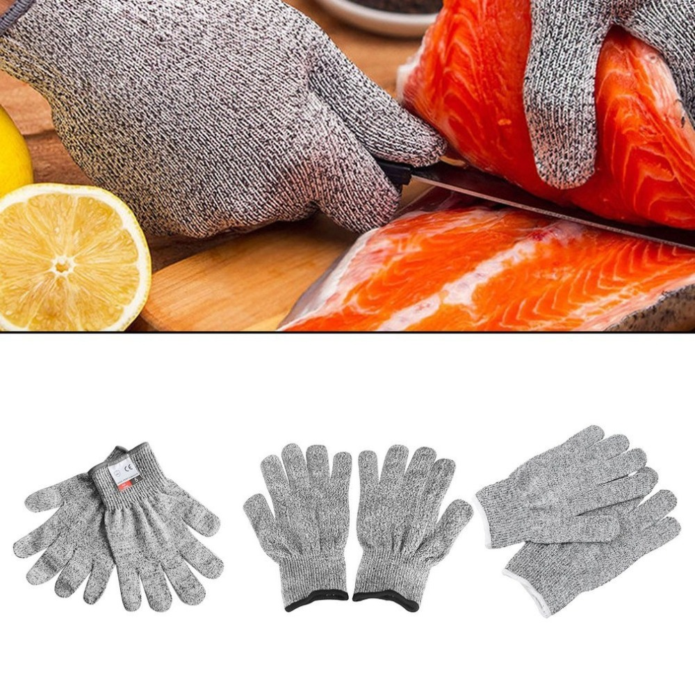 1 Pair Anti-Cut Wear-Resistant Working Safety Gloves Anti Abrasion Level 5 Kitchen Cutting Cut-Resistant Breathable work Gloves 1 pair of cut resistant gloves hppe anti cut wear resistant working safety touch screen gloves anti abrasion gardening work