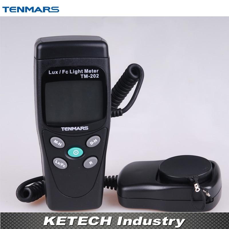 TM-202 3 1/2 LCD Display Digital LUX Meter Illuminometer Light Meter with Maximum Reading 2000  tm 204 light meter with 3 1 2 digits lcd with maximum reading 2000