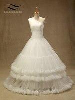 Elegante Vestido de noiva Tulle Pizzo Piega Abito Da Sposa con One-Spalla Robe de mariage casamento Abiti Da Sposa con (SL-W241)