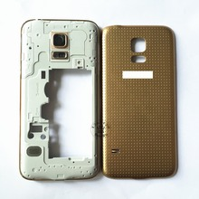 Single Sim Card Middle Frame Housing Bezel Camera Cover+Battery Cover  For Samsung Galaxy S5 SV Mini G800