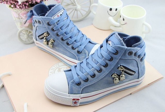 Free Shipping 2017 Autumn High Causal Shoes Platform Shoes Womens Canvas Shoes
