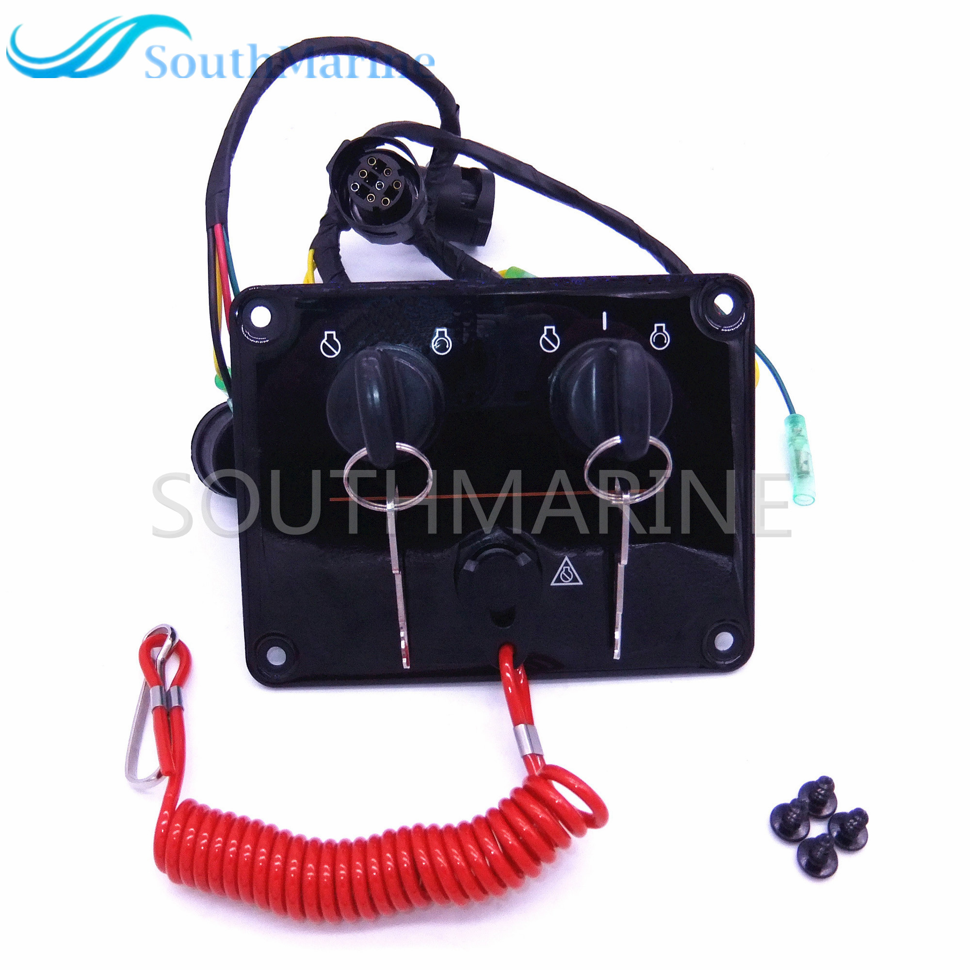 Boat motor 6K1-82570 6K1-82570-12-00 Outboard engine dual twin switch  panel main switch assembly for yamaha ,Free Shipping
