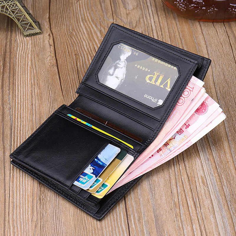 портмоне мужское Подлинная Крокодил бумажник Мужская кожаная Роскошные Кожа аллигатора кошелек Короткие Двойные кошелек моды небольшой тонкий бумажник для человека Лучший подарок кошелек мужской