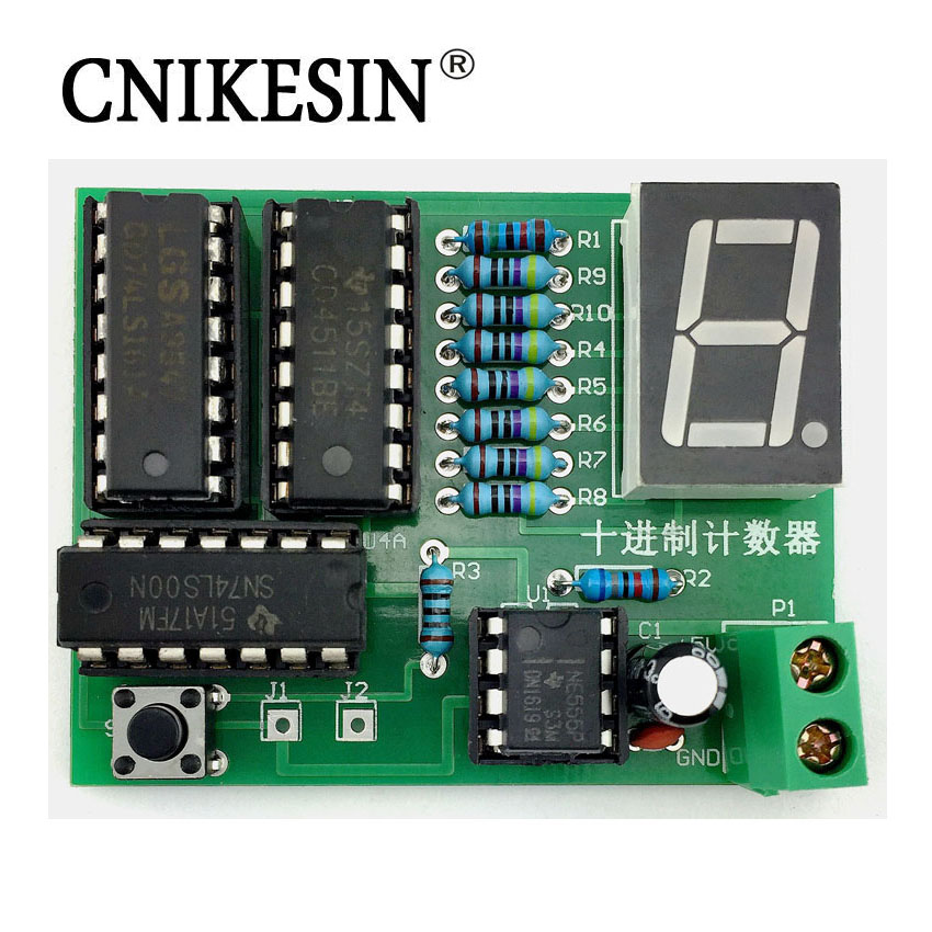 CNIKESIN Decade counter Kit 2016 College of decimal counter electronic production suite
