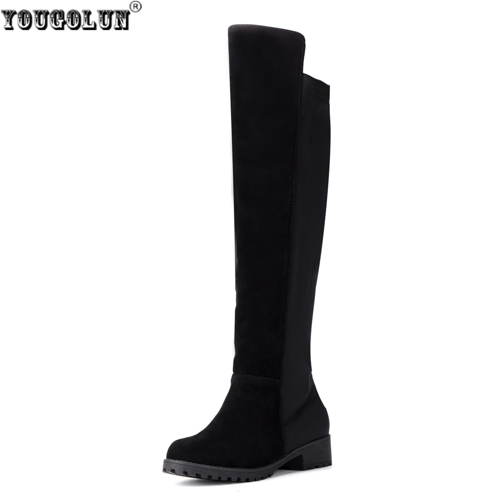 Online Get Cheap Black Thigh High Suede Boots -Aliexpress.com ...